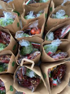 Bags of food items