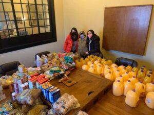 HBPA volunteers at food pantry