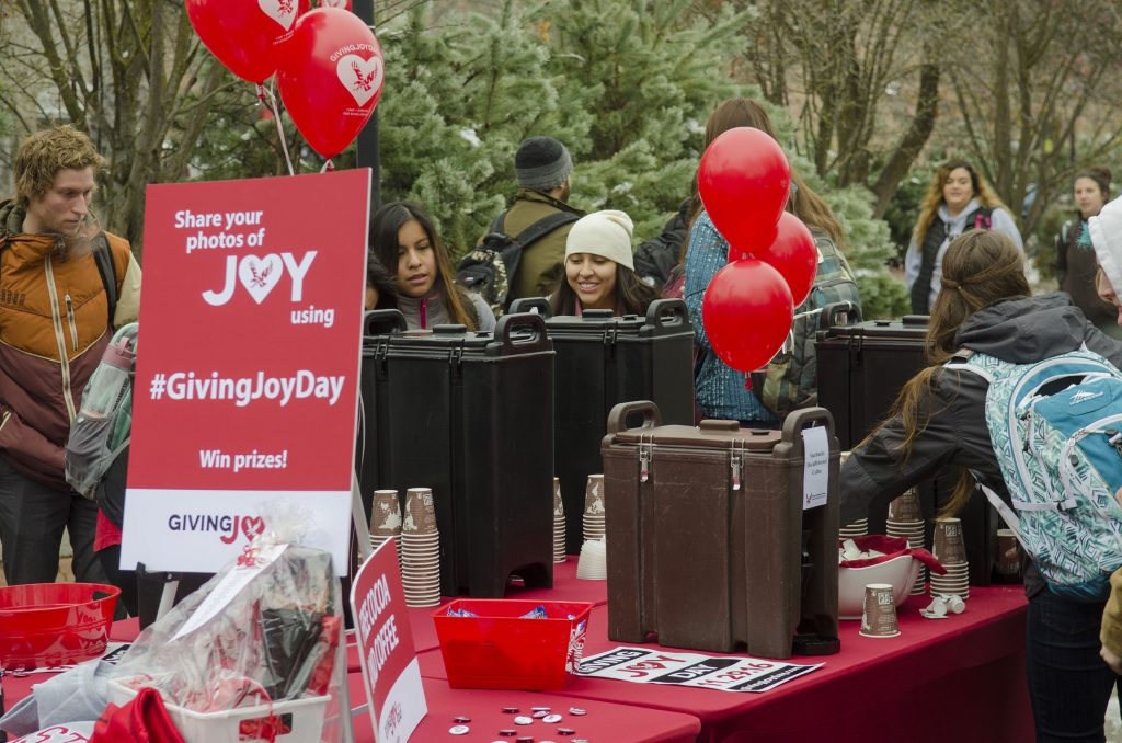 photo: campus event for Giving Joy Day