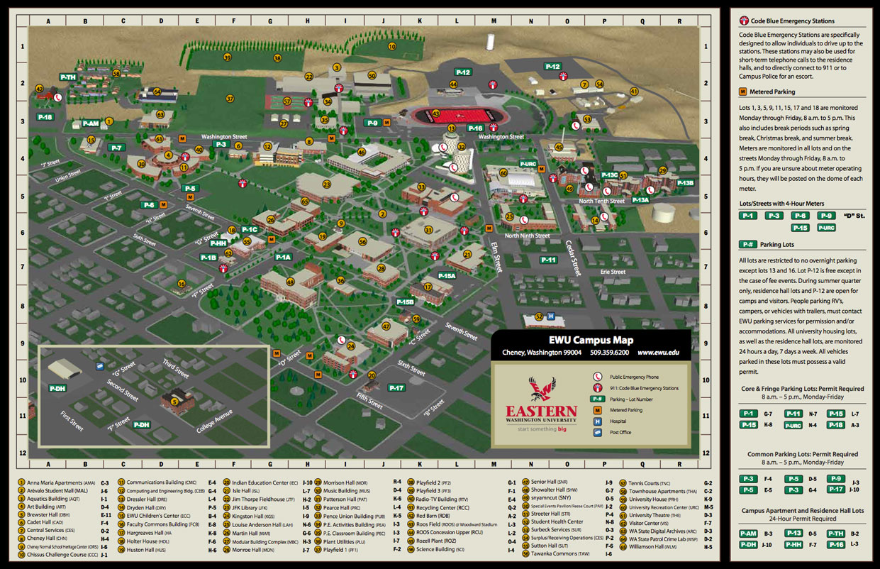 eastern washington university campus map Maps Eastern Washington University eastern washington university campus map