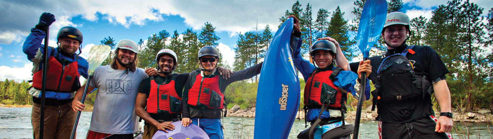 Photo: students on a kayak trip with EPIC Adventures