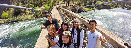 Photo: Students at Riverside State Park