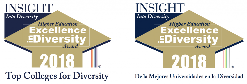 Logos: HEED Awards honors in English and Spanish languages