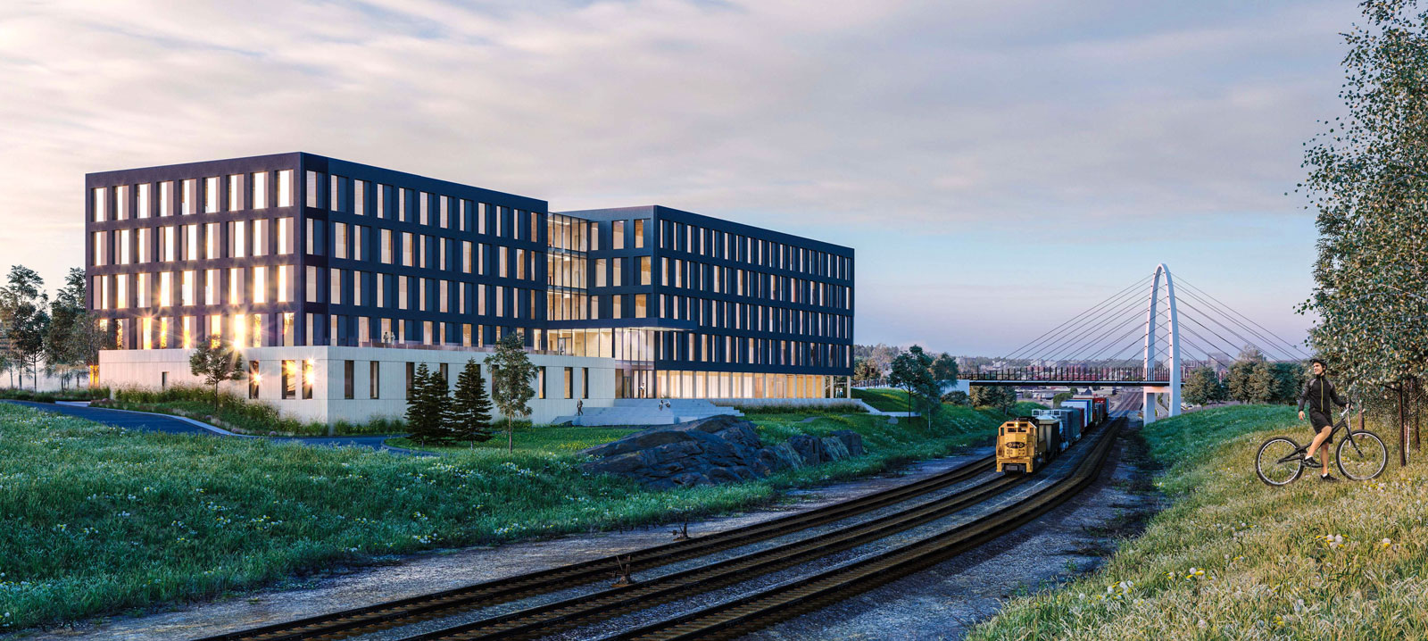 Rendering of the Catalyst Building on the University District Campus in Spokane